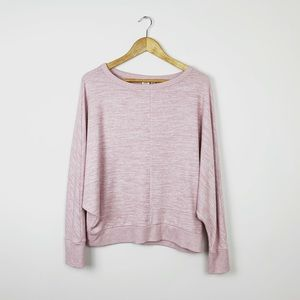 GAP Marled Pink Soft Spun Pullover Sweater